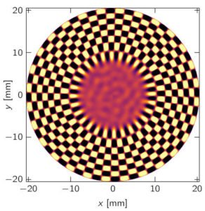 Gyrotron: Azimuthal electrical field at the cavity cross-section
